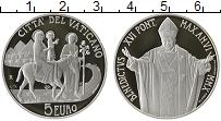Изображение Монеты Ватикан 5 евро 2010 Серебро Proof 96-й Всемирный день