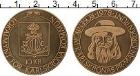 Изображение Монеты Швеция 10 крон 1978 Бронза UNC-