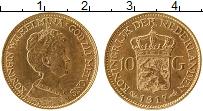 Изображение Монеты Нидерланды 10 гульденов 1917 Золото UNC-