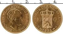 Изображение Монеты Нидерланды 10 гульденов 1932 Золото UNC- Вильгельмина (КМ# 16