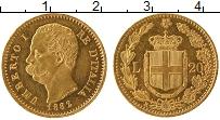 Изображение Монеты Италия 20 лир 1882 Золото UNC-
