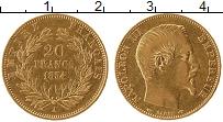 Изображение Монеты Франция 20 франков 1854 Золото XF-