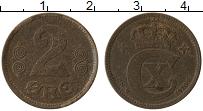 Изображение Монеты Дания 2 эре 1920 Бронза VF Кристиан Х