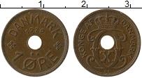 Изображение Монеты Дания 1 эре 1929 Бронза XF Кристиан Х