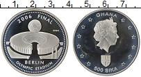 Изображение Монеты Гана 500 сика 2004 Серебро Proof- Елизавета II. Чемпио