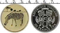 Изображение Монеты Того 100 франков 2011 Посеребрение Proof Зебра. Призмы