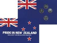 Изображение Подарочные монеты Новая Зеландия `Набор 1988 года, ``Гордость нации``` 1998 Медно-никель UNC Набор из 4 монет по