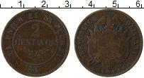 Изображение Монеты Боливия 2 сентаво 1883 Медь XF-
