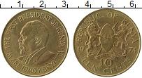 Изображение Монеты Кения 10 центов 1974 Латунь XF Мзее Йомо Кеньятта