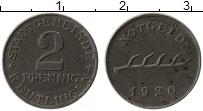 Продать Монеты Германия : Нотгельды 2 пфеннига 1920 Цинк