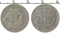 Изображение Монеты Португалия 2 1/2 эскудо 1942 Серебро VF