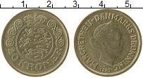 Изображение Монеты Дания 20 крон 1990 Латунь XF Маргарет II