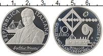 Изображение Монеты Италия 10 евро 2009 Серебро Proof !00 лет радио.Маркон