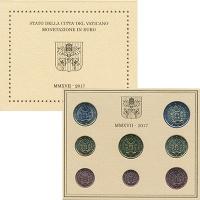 Изображение Подарочные монеты Ватикан Набор 2017 года 2017  UNC