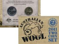 Изображение Подарочные монеты Австралия Австралийская шерсть 2011  UNC