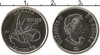 Изображение Монеты Канада 10 центов 2017 Медно-никель UNC