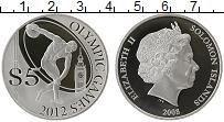 Изображение Монеты Соломоновы острова 5 долларов 2008 Серебро Proof Елизавета II. XXX Ле