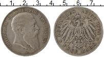 Продать Монеты Баден 5 марок 1904 Серебро