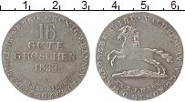 Изображение Монеты Ганновер 16 грош 1833 Серебро UNC- А.