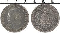 Изображение Монеты Бавария 3 марки 1914 Серебро XF+ D Людвиг III