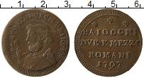 Изображение Монеты Ватикан 2 1/2 байоччи 1797 Медь XF Римская Республика