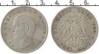 Изображение Монеты Бавария 3 марки 1909 Серебро XF D. Отто