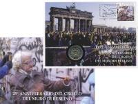 Изображение Подарочные монеты Ватикан 2 евро 2014 Биметалл UNC 25 лет падения берли