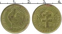 Изображение Монеты Французская Экваториальная Африка 50 сантим 1942 Латунь XF-