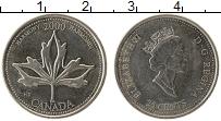 Изображение Монеты Канада 25 центов 2000 Медно-никель UNC- Елизавета II. Миллен