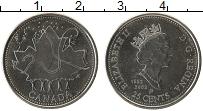 Изображение Монеты Канада 25 центов 2002 Медно-никель UNC- Елизавета II. 50 лет