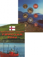 Изображение Подарочные монеты Фарерские острова Пробный выпуск монет 2004 года 2004  UNC