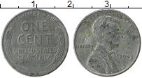 Изображение Монеты США 1 цент 1943 Цинк VF Авраам Линкольн