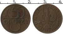 Изображение Монеты Польша 5 грош 1928 Бронза VF