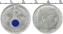 Изображение Монеты Третий Рейх 2 марки 1938 Серебро XF E, Пауль фон Гинденб