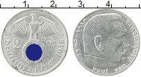 Изображение Монеты Третий Рейх 2 марки 1938 Серебро XF Гинденбург A