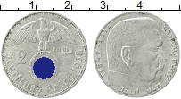 Изображение Монеты Третий Рейх 2 марки 1938 Серебро XF A, Пауль фон Гинденб