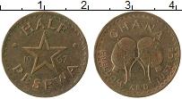Изображение Монеты Гана 1/2 песева 1967 Бронза XF