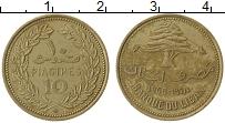Изображение Монеты Ливан 10 пиастр 1968 Латунь XF