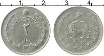 Изображение Монеты Иран 2 риала 1975 Медно-никель XF