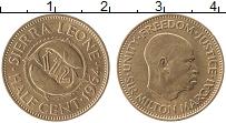 Изображение Монеты Сьерра-Леоне 1/2 цента 1964 Медь UNC- Милтон Маргаи
