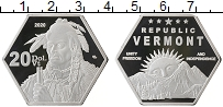 Изображение Монеты США 20 долларов 2020 Посеребрение Proof