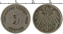 Изображение Монеты Германия 5 пфеннигов 1903 Медно-никель VF G