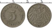 Изображение Монеты Германия 5 пфеннигов 1904 Медно-никель VF