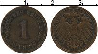 Изображение Монеты Германия 1 пфенниг 1890 Медь VF E