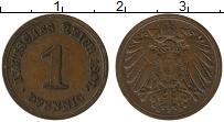 Изображение Монеты Германия 1 пфенниг 1897 Медь XF E