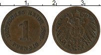 Изображение Монеты Германия 1 пфенниг 1898 Медь VF E