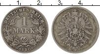 Изображение Монеты Германия 1 марка 1880 Серебро VF