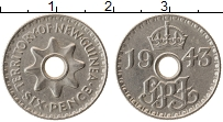 Продать Монеты Новая Гвинея 6 пенсов 1943 Медно-никель