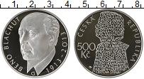 Изображение Монеты Чехия 500 крон 2013 Серебро Proof 100 лет со дня рожде