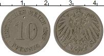 Изображение Монеты Германия 10 пфеннигов 1898 Медно-никель VF